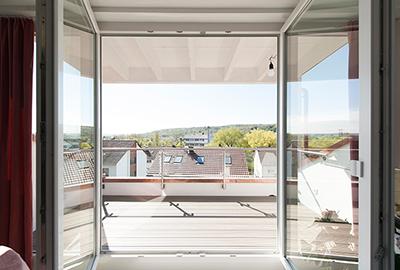 Dachgaube mit Balkon